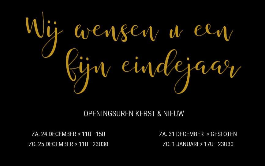 Openingsuren kerst en nieuw