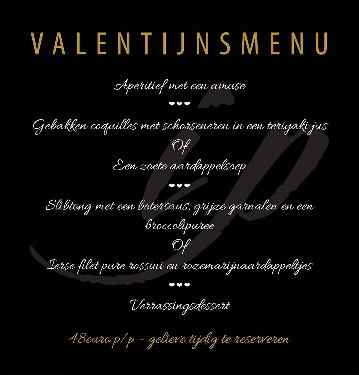 Valentijn menu 2018