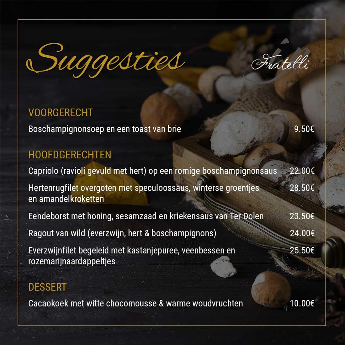 Herfst Suggesties - Boschampignons